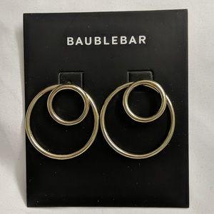 Baublebar double hoop gold earrings